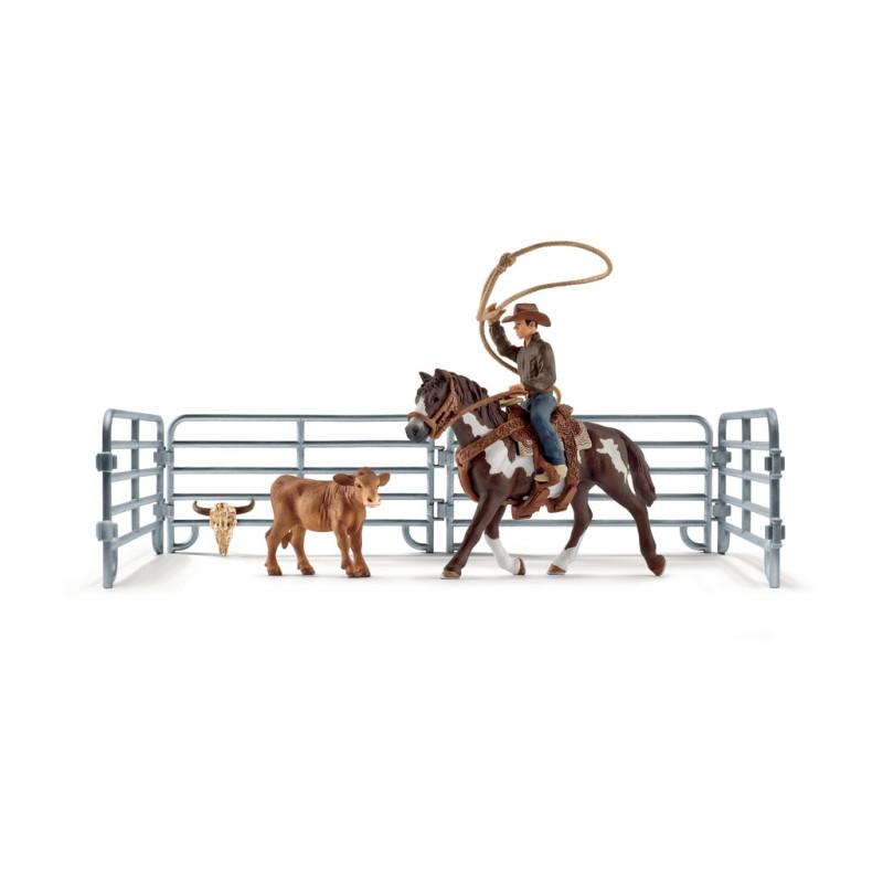 Schleich Team roping med cowboy 41418