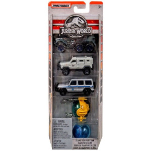 Jurassic World Fordon 5-pack