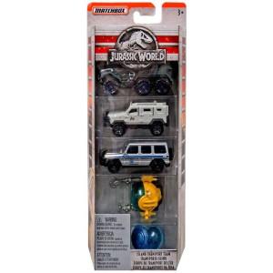Jurassic World Fordon 5-pack