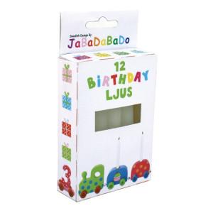 Jabadabado, Ljus till födelsedagståg (12st)