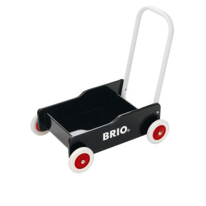 Lära gå vagn (svart) Brio