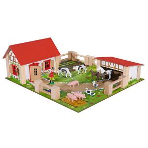Bondgård med djur