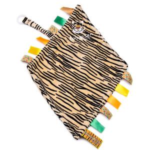 Snuttefilt med napphållare Tiger Diinglisar Wild