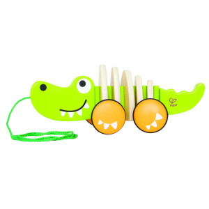 Hape Dragdjur i trä Krokodil