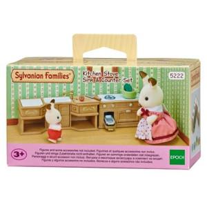 Sylvanian Families Köksset med spis, vask & bänk 5222