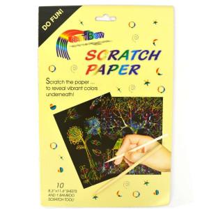 Rainbow Scratch Paper A4 10st