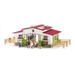 Schleich Stall Ridcenter med ryttare & hästar 42344