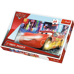 Trefl Disney Cars City at night maxi 24 bitar 14235
