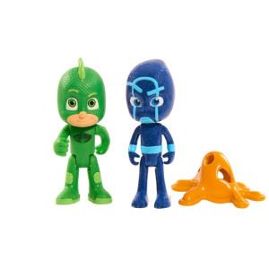 Pyjamashjältarna Lysande Figur Gecko och Night Ninja PJ Mask