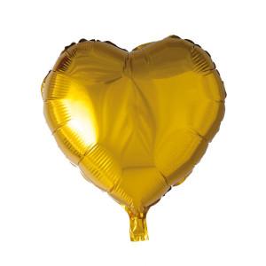 Folieballong hjärta 46cm Guld