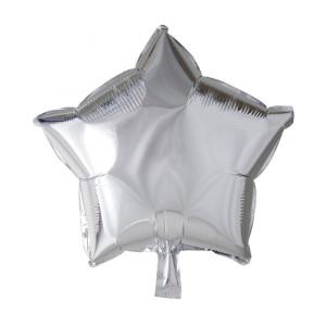 Folieballong stjärna 46cm Silver