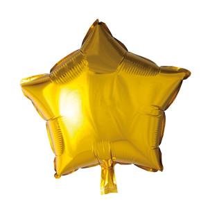 Folieballong Stjärna 46cm Guld