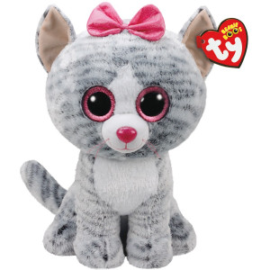 TY Beanie Boos Kiki Grå katt L