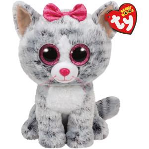 TY Beanie Boos Kiki Grå katt M