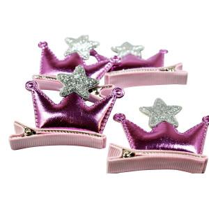Hårspänne Prinsesskrona rosa Clip