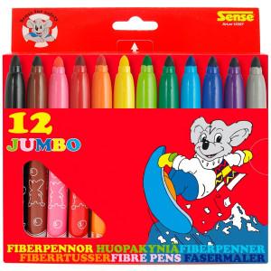 Sense Jumbo Fiberpennor 12-pack