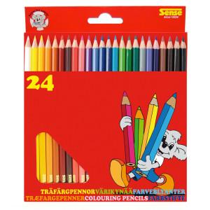 Sense Träfärgpennor 24-pack