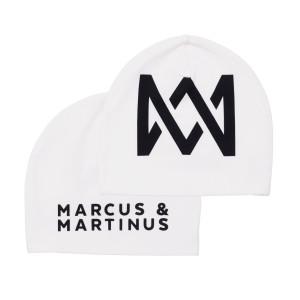 Marcus & Martinus Mössa Vit med svart Logo One size