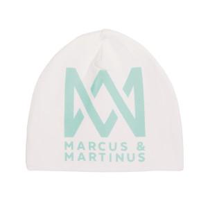 Marcus & Martinus Mössa Vit med aqua Logo One Size