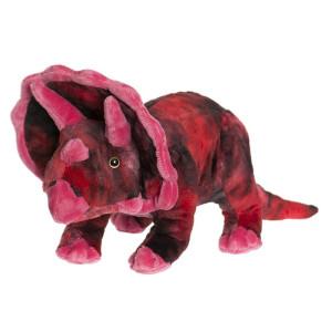 Teddy Dino Stor Röd Triceratops