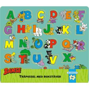 Bamse Träpussel ABC