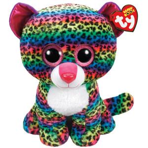TY Beanie Boos Dotty flerfärgad leopard L