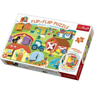 Flip-Flap Pussel med flikar Farm 36 bitar 14271