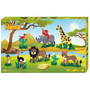 Hama Midi Giant Gift box Vilda Djur 5000 st