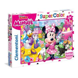Clementoni Minnie Mouse Glitter Pussel 104 bitar 20146