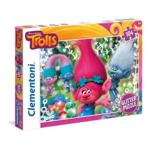 Clementoni Trolls Glitter Pussel 104 bitar 27249