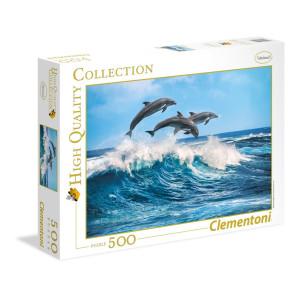 Clementoni Dolphins Pussel 500 bitar 35055