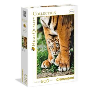 Clementoni Bengal Tiger Cub Pussel 500 bitar 35046