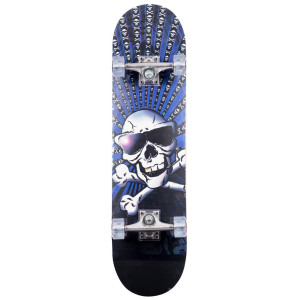 California Skateboard Concave Maple Dödskalle med solglasögo