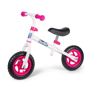 4-Kids Springcykel Vit/Rosa