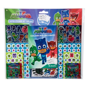 Pyjamashjältarna Mega Sticker set