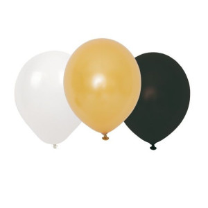 Jabadabado Ballonger Guld, svart och vit