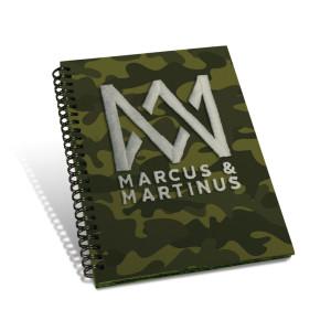 Marcus & Martinus Anteckningsbok Spiral Camo