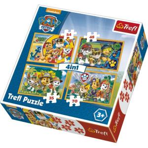 Trefl Paw Patrol Pussel 4-i-1 34307