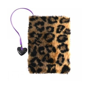 Anteckningsbok Plysch Mjuk Leopard