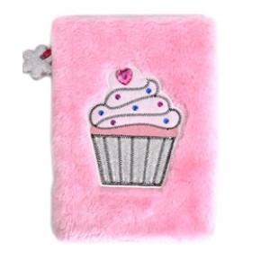 Anteckningsbok Plysch Cupcake