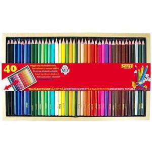 Sense Träfärgpennor 40-pack i ask