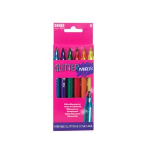 Sense Glitter Fiberpennor 6-pack