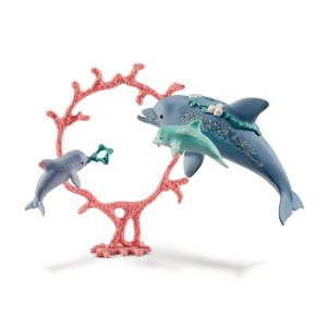Schleich Delfin med ungar 41463