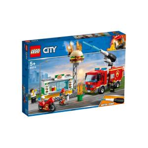 LEGO® City Brandkårsutryckning till hamburgerrestaurang 60214