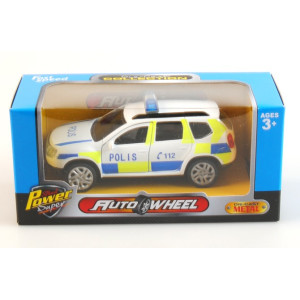 Polisbil i metall med pullback 11cm