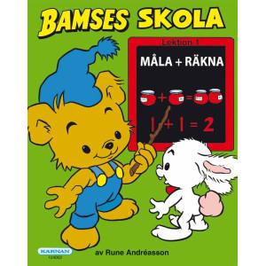 Bamses Skola Måla+Räkna