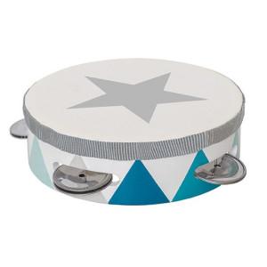 Jabadabado Tamburin trumma blå