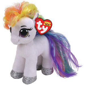 TY Beanie Boos STARR Vit Ponny reg