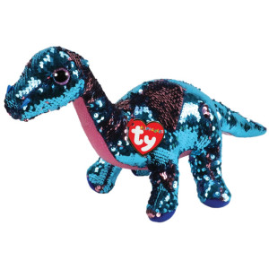 TY Flippables TREMOR Ljusblå/Rosa Dinosaurie M