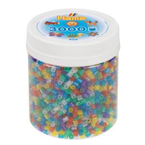 Hama Midi Pärlor i burk 3000 st Glitter Mix 54